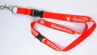 Polyester Schlüsselband mit gedrucktem Logo