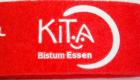 Filz Schlüsselband mit Siebdruck und Schlüsselring Detaillogo