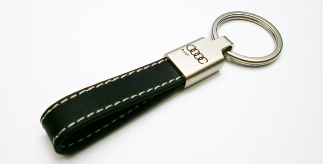 Leder Schlüsselband mit Lasergravur