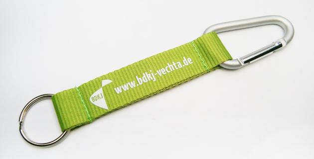 Shortstraps Schlüsselbänder mit Logodruck Karabiner und Schlüsselring