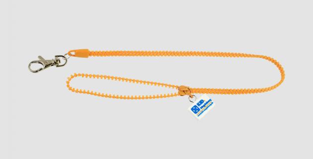 Reißverschluss Schlüsselband mit Zipper und Badge