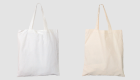 Baumwoll-Stofftaschen mit kurzen Henkeln
