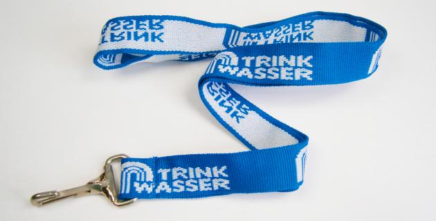 Polyester Schlüsselband mit gewebtem Logo