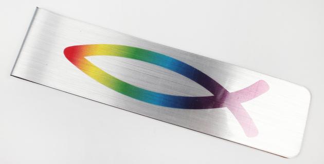 Magnetische Lesezeichen mit Logodruck Fisch