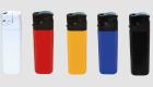 Elektronik - Markenfeuerzeuge weiß, gelb, rot, blau, schwarz