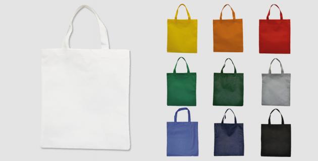 Vliestaschen mit kurzen Henkeln