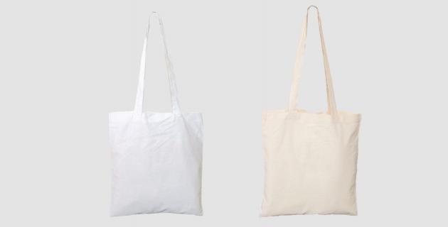 Baumwoll-Stofftaschen mit langen Henkeln